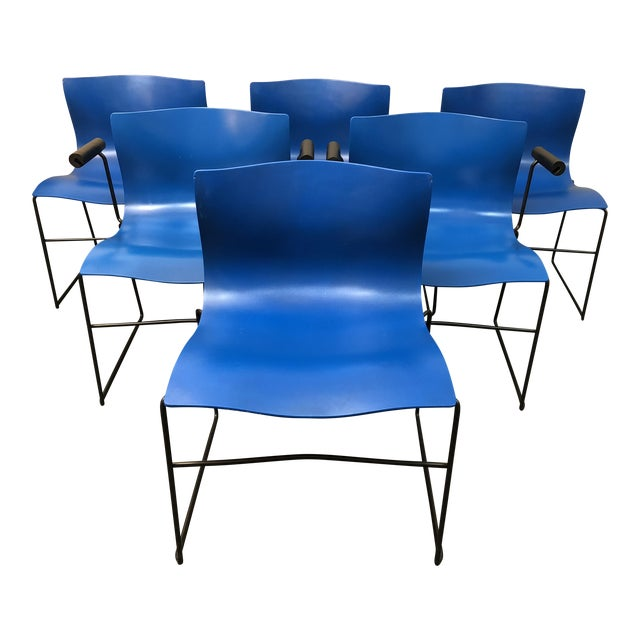 Vignelli Designs for Knoll Handkerchief Dining Chairs - Set of 6 - Image 1 of 13