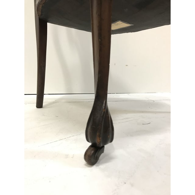 19th Century Art Nouveau Mahogany Side Desk Vanity Chair Attributed to Louis Marjorelle For Sale - Image 9 of 13