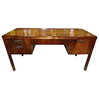 Mid-Century Modern Mahogany Desk For Sale