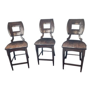 Stanley Furniture Counter Stools - Set of 3 For Sale