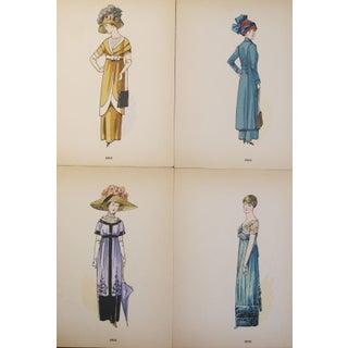 Original 1910 French Fashion Plates - Set of 4