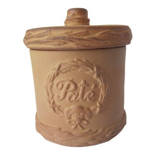 Vintage Terra Cotta Pate Pot For Sale
