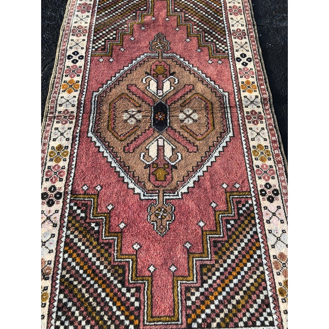 """A 3'10""""x7'4"""" 70 year old vintage Turkish Anatolian rug. Thanks for visiting our shop! First and foremost we price..."""