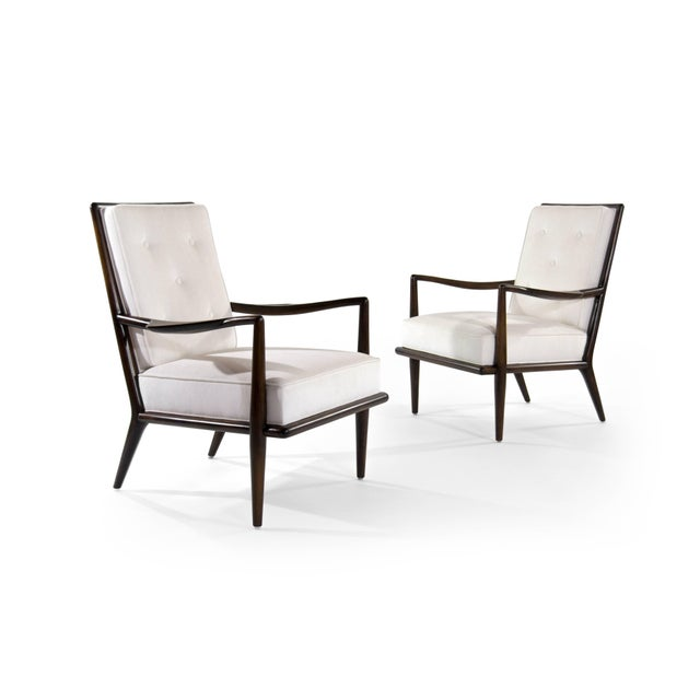Mid 20th Century T.H Robsjohn-Gibbings Wing Arm Lounge Chairs - a Pair For Sale - Image 5 of 11