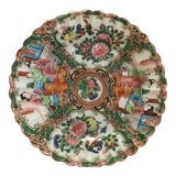 Image of Late 19th Century Chinese Rose Medallion Plate For Sale