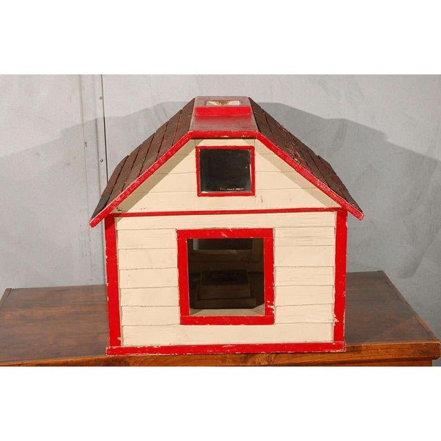 Folk Art House / Flag Stand For Sale - Image 9 of 10