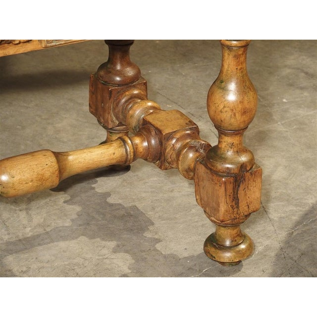 17th Century Basque Country Writing Table With Inset Star For Sale - Image 10 of 13