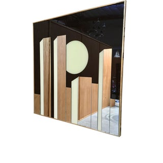 1980s Geometric Op-Art Mirror For Sale