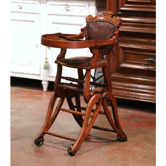 Feed your child in style or let him/her play in the antique and ingenious Victorian high chair! Crafted in England circa...
