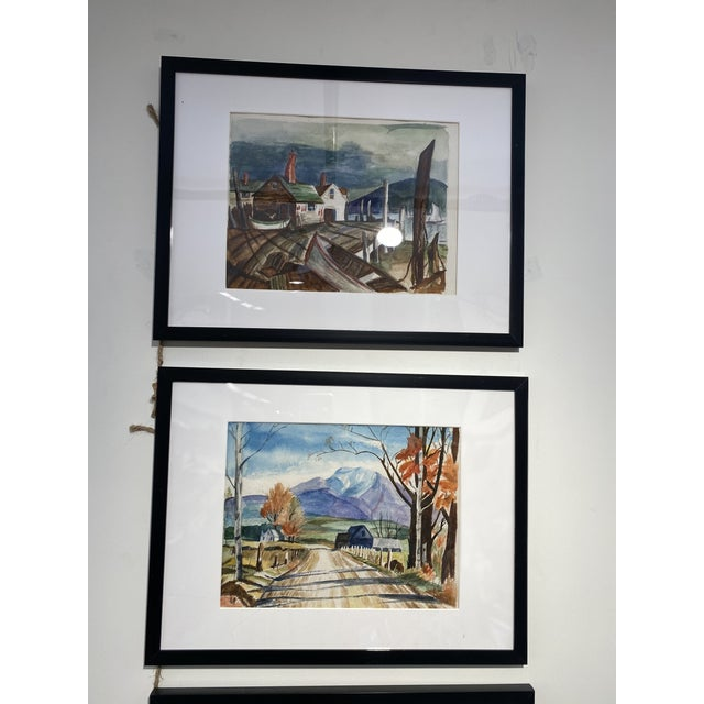 Watercolor 1950s Collection of Watercolors by Walter Killam - Set of 15 For Sale - Image 7 of 11