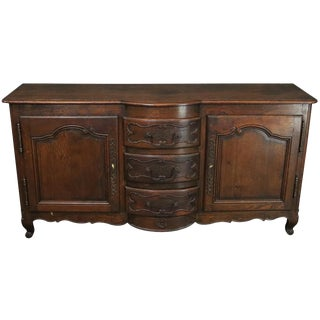 Antique French Sideboard Louis XV Rococo 1880 Oak For Sale