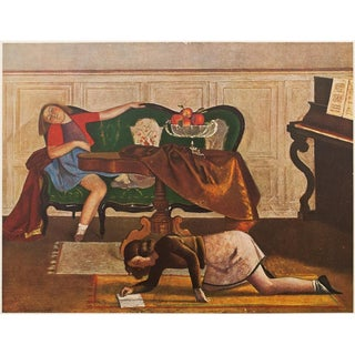 1947 Le Salon Period Lithograph by Balthus For Sale