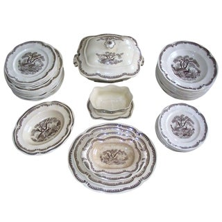 Vintage Swedish China 51-Pc Dinnerware Set For Sale