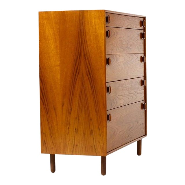 1960s Mid Century Modern Meredew Teak Upright Dresser For Sale
