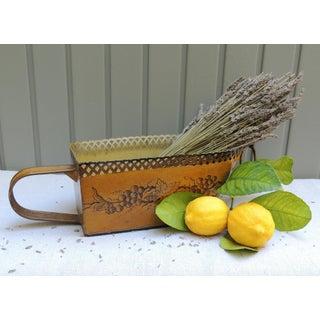 Vintage French Tole Peinte Cachepot Jardiniere Basket Preview