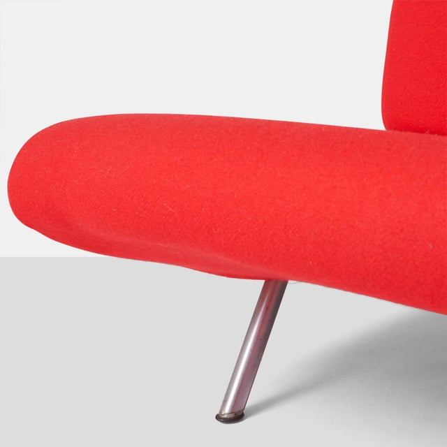 Marco zanuso sofa in cherry red wool For Sale In San Francisco - Image 6 of 7