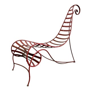 Iron Spine Chair Attributed to Andre Dubreuil For Sale