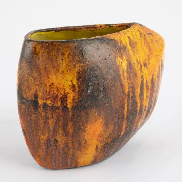Marcello Fantoni 1960s Asymmetrical Marcello Fantoni Vase For Sale - Image 4 of 12
