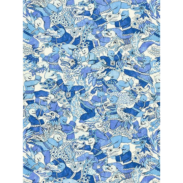 """From the Scalamandre collection. Pattern is large. Pattern repeat is 28.5""""L x 27.25""""W One yard minimum."""