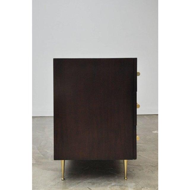 Mid-Century Modern T.H. Robsjohn-Gibbings Dresser with Brass Legs For Sale - Image 3 of 8