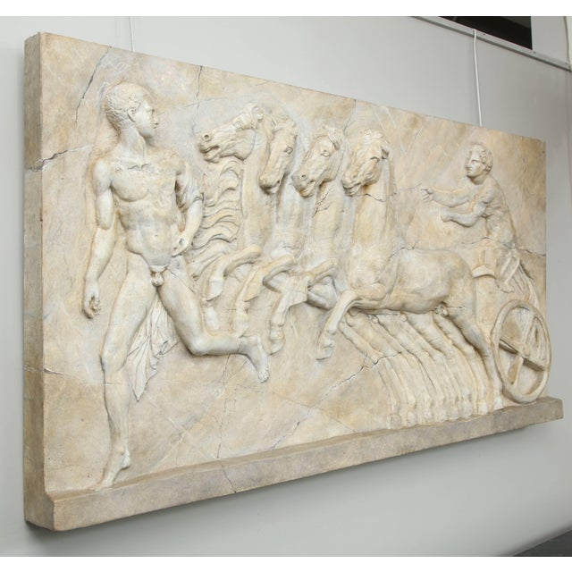 Plaster Neoclassical Plaster Panel For Sale - Image 7 of 8