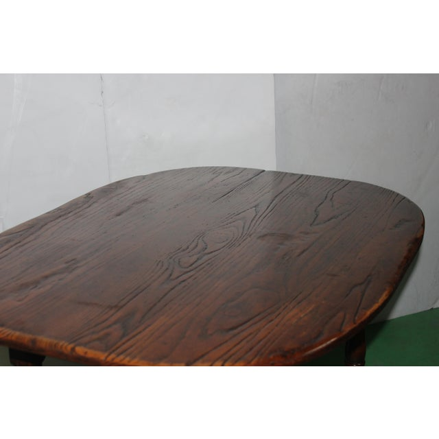 English Country Walnut Table - Image 4 of 5