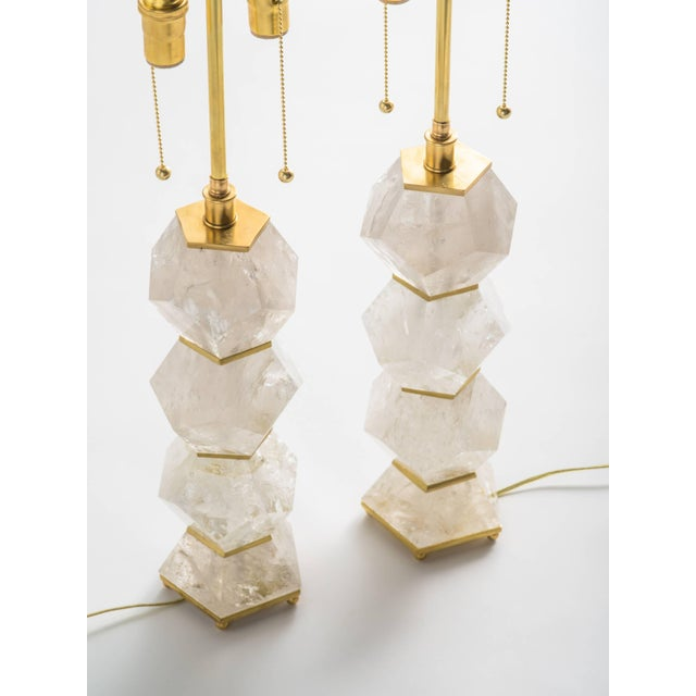 """Classic Rock Crystal Quartz Lamps - """"Eon Collection"""" For Sale - Image 4 of 10"""