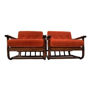 Italian 1960 Stylish Bamboo Lounge Set For Sale