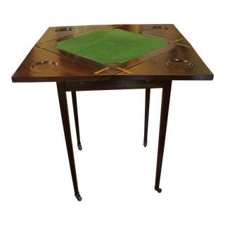 English Mahogany Envelope Games Table For Sale