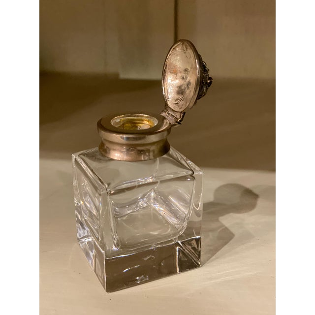 Italian Silver Top Ink Well For Sale - Image 4 of 6