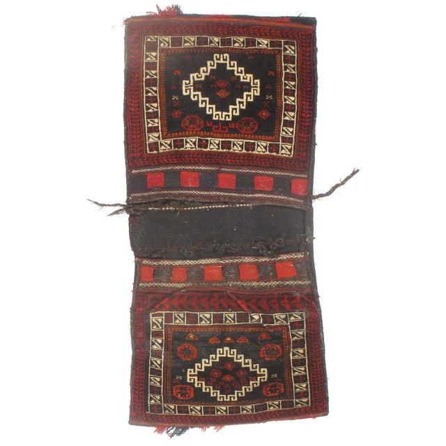 "Vintage Persian Saddlebag - 2'2"" X 4'10"" - Image 1 of 2"
