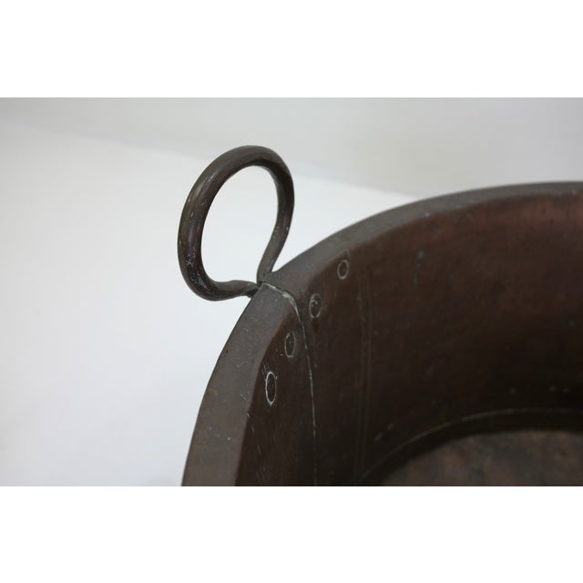Danish Large Antique Copper Pot From 1960 - Image 7 of 7
