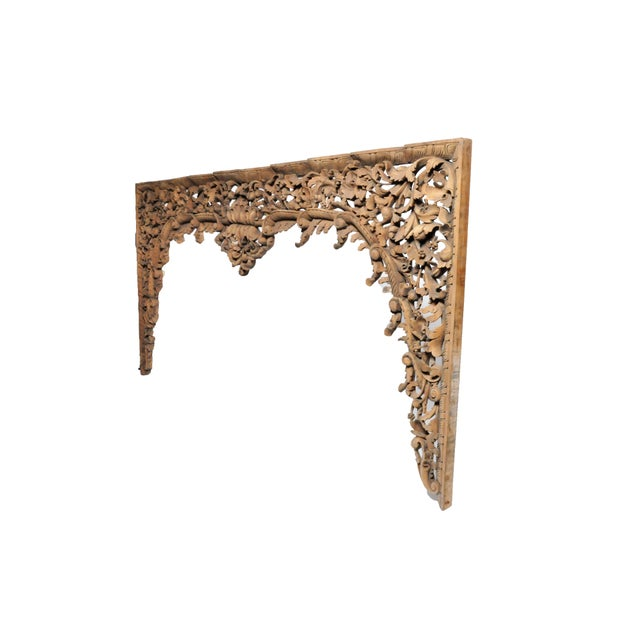 Asian Vintage Burmese Hand-Carved Arch For Sale - Image 3 of 13