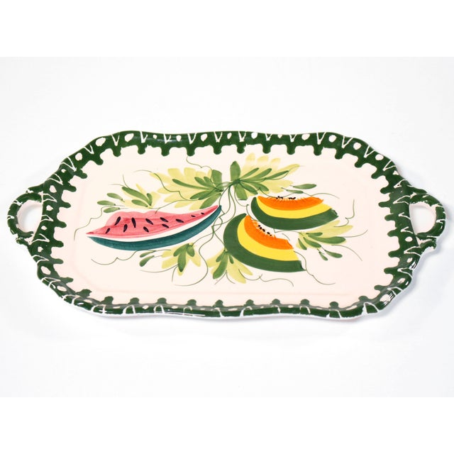 Italian Zanolli Faience Fruit Platter For Sale In Los Angeles - Image 6 of 6