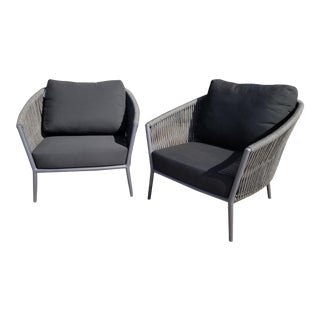 Hd Buttercup Catalina Rope Outdoor Lounge Chair - Set of 2 For Sale