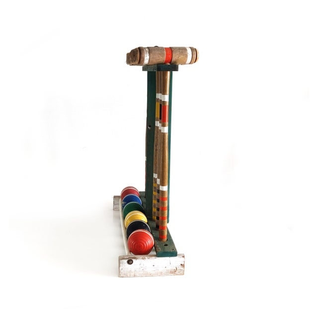 Traditional Vintage Wooden Croquet Set For Sale - Image 3 of 10