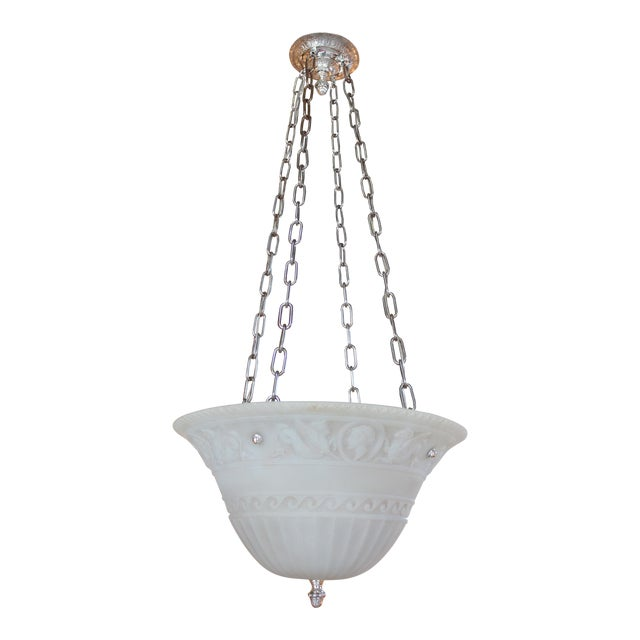 Antique Classical Glass Bowl Fixture For Sale