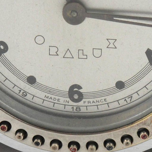 Art Deco Machine Age Oralux Chrome Clock for Blind People - Image 7 of 9
