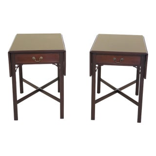 Kittinger Pembroke Chippendale Mahogany Tables - a Pair