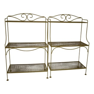 Vintage Woodard Bakers Racks - a Pair For Sale