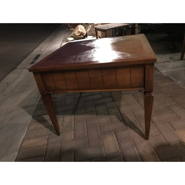 Mid-Century Single Drawer Oak Coffee Table For Sale - Image 4 of 5