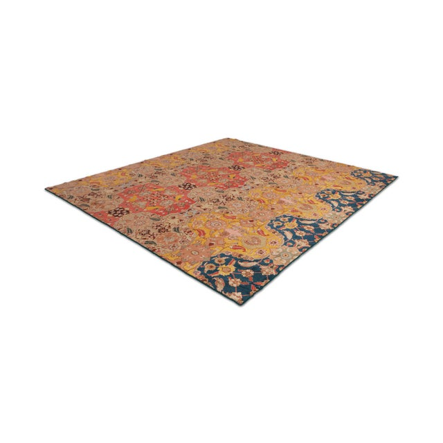 Agra Carpet in Wool & Silk For Sale - Image 11 of 11
