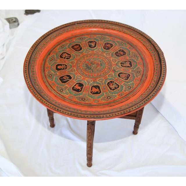 1960s Indian Tray Table For Sale - Image 4 of 6