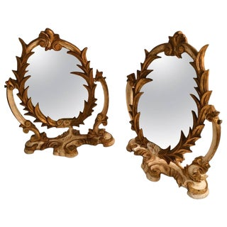 Two Venetian Parcel-Gilt Easel Mirrors For Sale