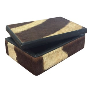 Antique Zebra-Hide Box For Sale