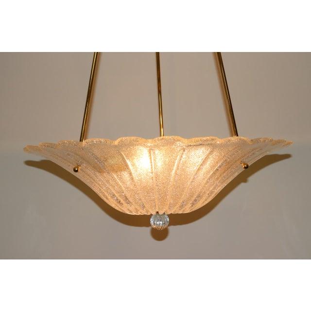 Murano Vintage Mid-Century Modern Murano Glass Pendant Lamp For Sale - Image 4 of 13