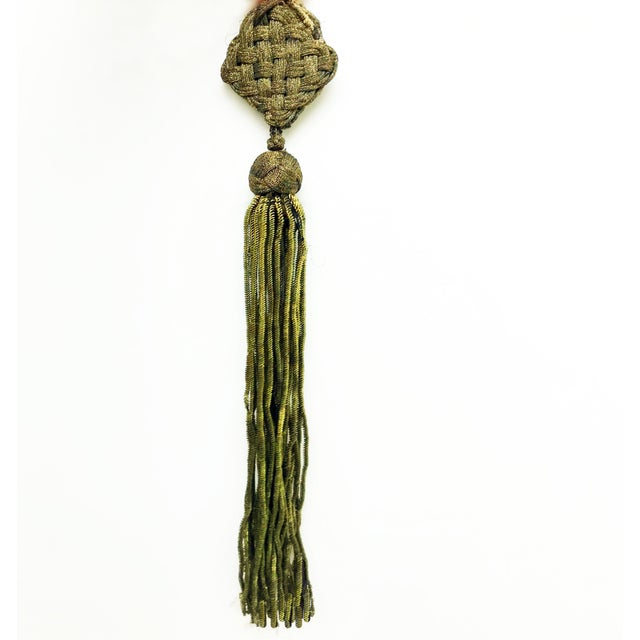 Gold Late 1800s Antique French Gold Metallic Bullion Tassel For Sale - Image 8 of 8