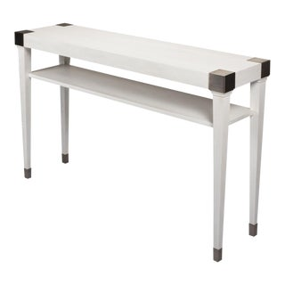 Quatrain Console Table, Small, Working White For Sale