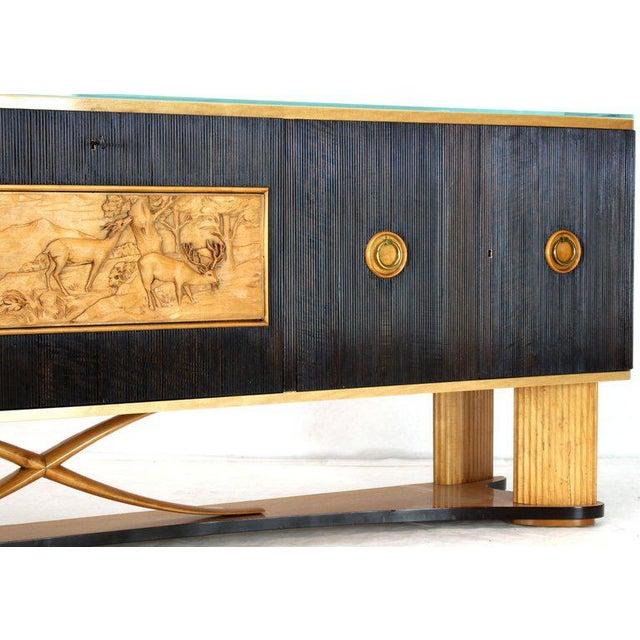 1940s Mid-Century Modern Osvaldo Borsani Extra Long Sideboard For Sale - Image 4 of 14