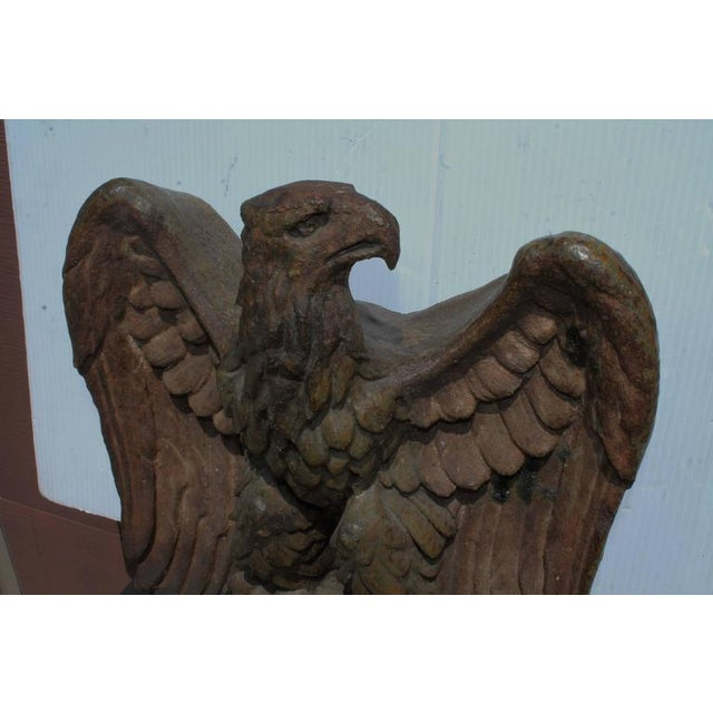 Early 19th Century Monumental Pottery Eagle Sculpture For Sale - Image 4 of 9